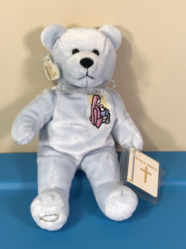 "NWT 2001 Holy Bears Plush Holy Bible Christmas Virgin Mary Holding Baby Jesus 9"""
