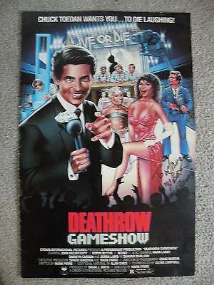 """Deathrow Gameshow"" John McCafferty, Robyn Blythe, original 1987 Pressbook"