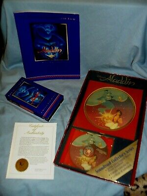 1992 Disney ALADDIN Soundtrack CD Collector's Series, Lenticular & COA USED