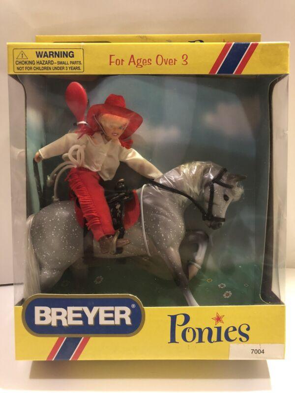 Breyer Ponies & Rider Doll Gift Set #7004 Dapple Grey NIB Vintage 1998