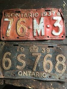 Old license plates