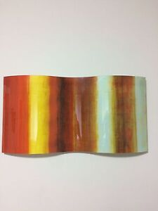 Orange and red glass/stained glass wall art