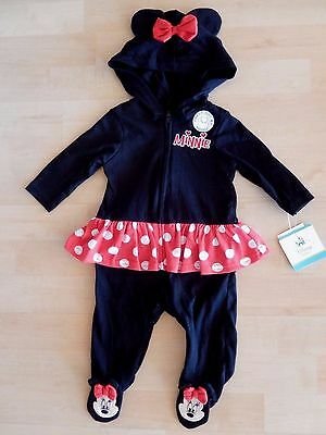 Disney Minnie Mouse One Piece Halloween Costume Infant 0-3 Months New Outfit