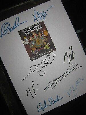 Supernatural ScoobyNatural Signed TV Script X8 Jared Padalecki Jensen Ackles RPT