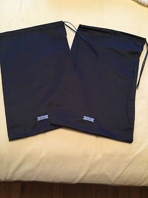 New! Authentic PRADA SATIN    DRAWSTRING Dust Black bag 13.5 x 8.5 lot of 2