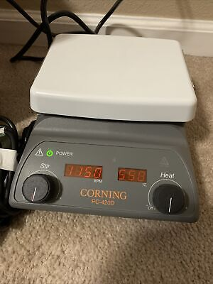 Corning 6796-420d Pc420d Digital Stirring Hot Plate - 5x7 Pyroceram Top 230v