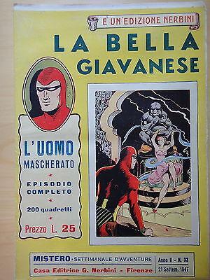 1947-MISTERO-L'UOMO MASCHERATO-LA BELLA GIAVANESE