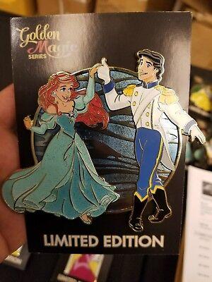 Disney Acme/Hot Art Golden Magic dancing couple LE 300 eric & ariel