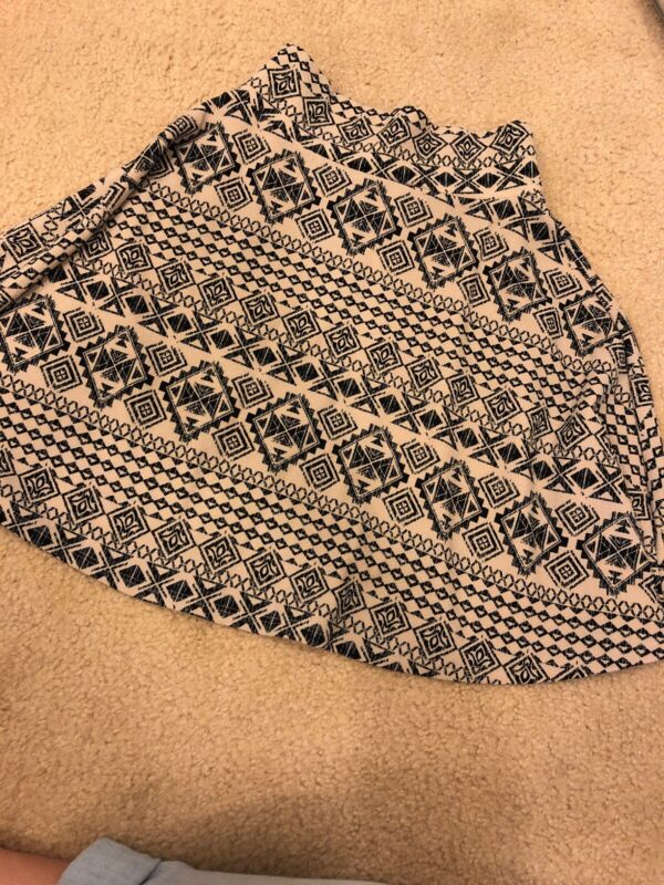 lularoe Kids 8 Skirt Black Tan