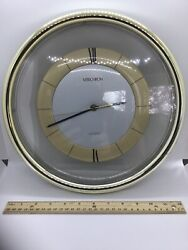 "Vintage Verichron Octagonal Wall Clock 12"" Model 700664 Harris & Mallow WORKS!"