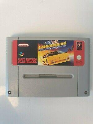 RARE Super Nintendo SNES LAMBORGHINI AMERICAN CHALLENGE JEU PAL SNSP-L8-FAH