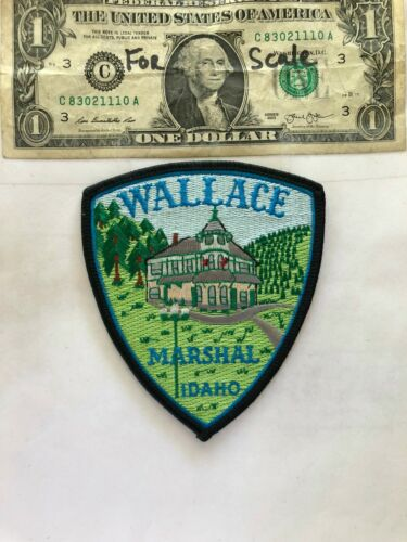 Wallace Idaho Police Patch (Marshall) Un-sewn in great shape