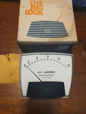 Vintage Ge The Big Look 0-15 Amp Panel Meter