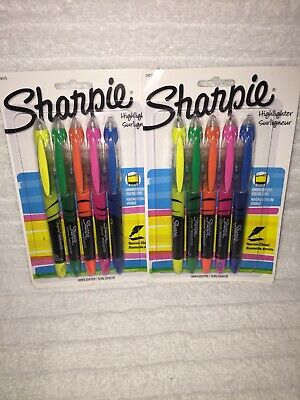 Sharpie Accent Pen-style Liquid Highlighters Chisel Tip Assorted Colors 2 Pks