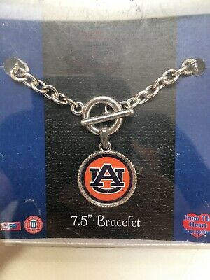 "Auburn Tigers Charm Bracelet 7.5"" NCAA Final Four Basketball Football NIB"