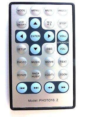 UNKNOWN BRAND DIGITAL PHOTO FRAME REMOTE CONTROL for PHOTO 10.2