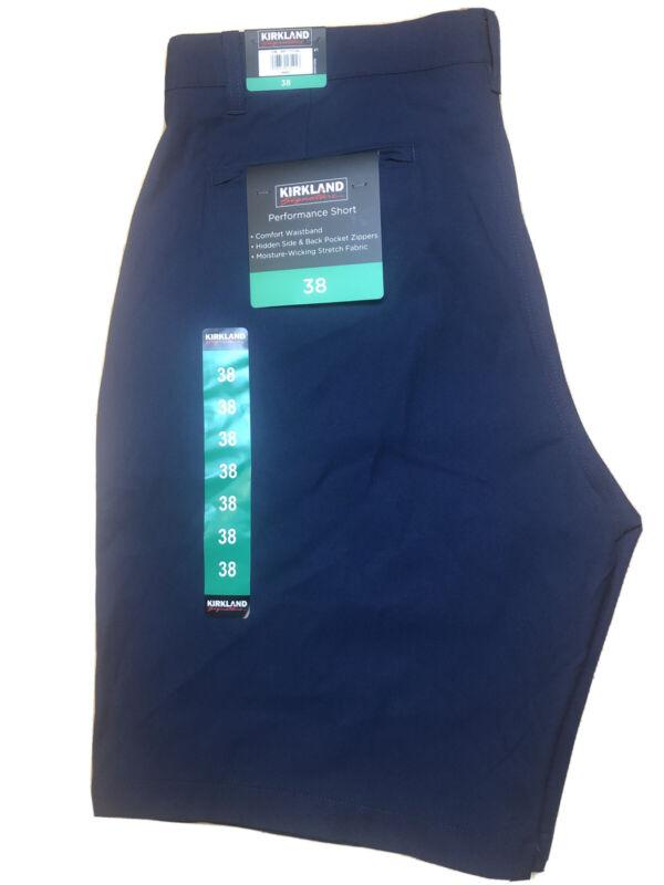 Kirkland Signature Mens Performance Golf Shorts Navy Size 38 Comfort Waistband