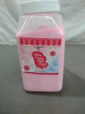 The Candery Cotton Candy Floss Sugar Strawberry Flavor- Reusable Plastic Jar.