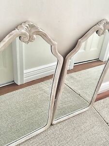 Antique Matching Pair of Shabby Chic Mirrors Marrickville Marrickville Area Preview