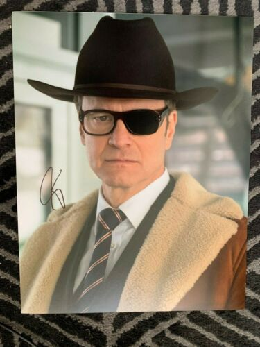 Kingsman Golden Circle Colin Firth Autographed Signed 11x14 Photo COA #4