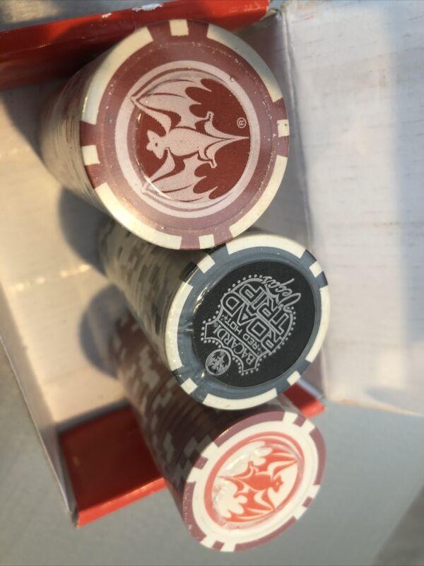 Bacardi Red Not Road Trip Vegas Poker Chips w/Box 2005 Advertising
