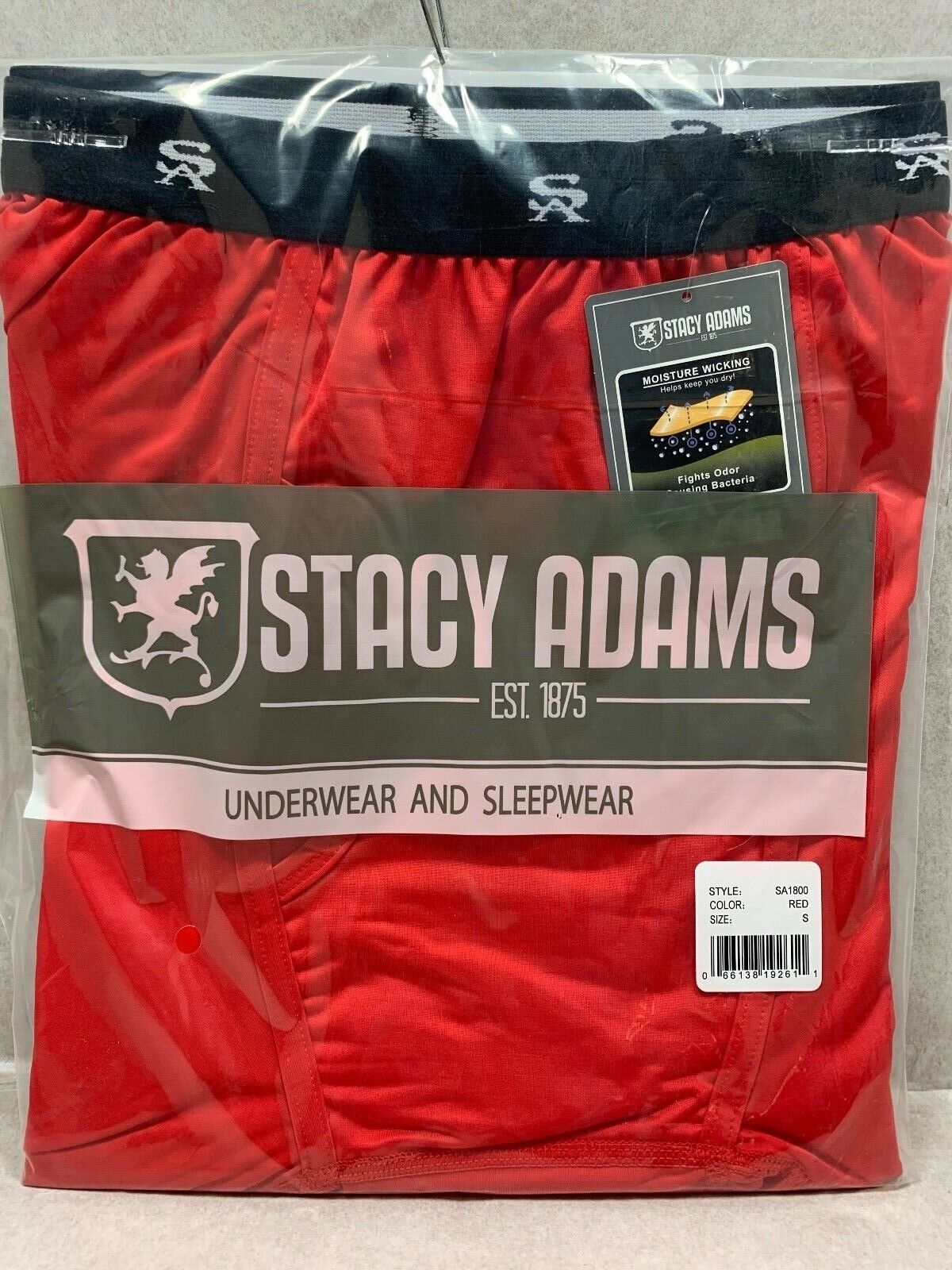 NEW POLY BAG MEN'S Stacy Adams Moisture Wicking Comfort Blend SHORT BRIEFS S-4XL Clothing, Shoes & Accessories