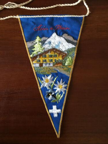 Vintage European travel Pennants/Flags Stein a Rhein Switzerland