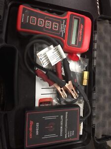 Snap on cordless electrical system tester