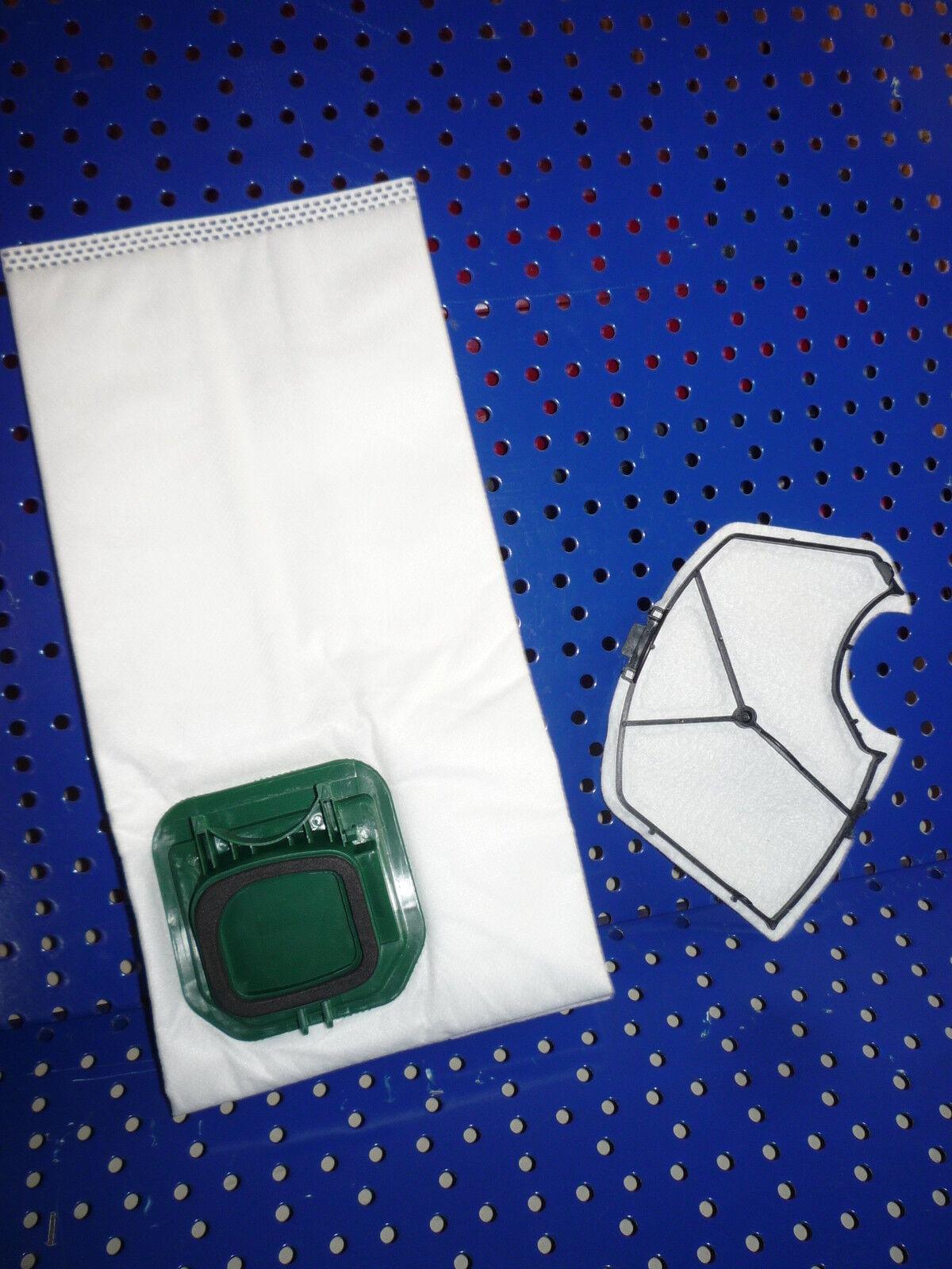 12 Filtertüten, Beutel +1 Filter geeignet für Vorwerk Kobold VK 140, VK 150