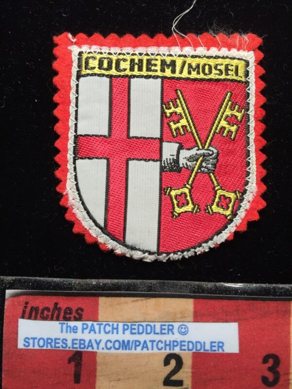 COCHEM / MOSEL ~ COAT OF ARMS ~ GERMANY TOURIST JACKET PATCH 63LL