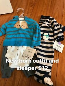 Newborn Carter's outfits brand new tags attached