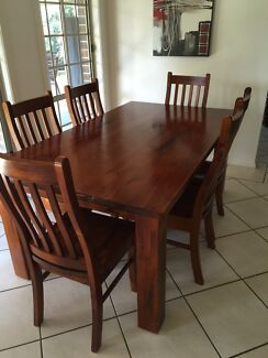 Dining Table and 6 Chairs Appin Wollondilly Area Preview