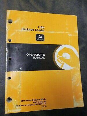 Oem Factory John Deere 710d Backhoe Loader Operators Manual Omt152277