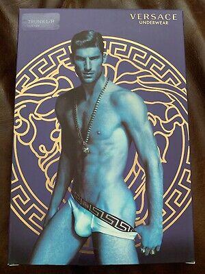 NWT Authentic Versace Men's Boxer Brief Size 4 Mens Underwear Small/Medium Gold