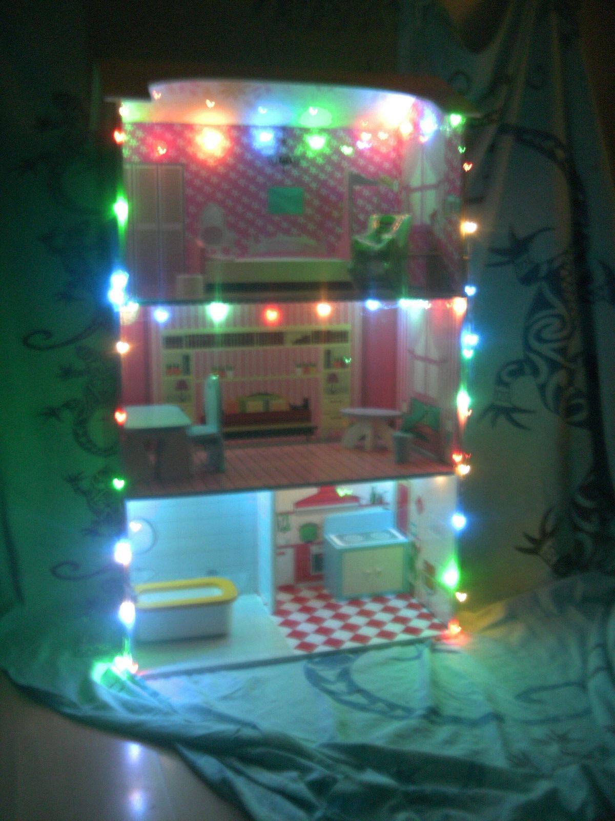 Lichterkette LED Innenraum Beleuchtung Dekoration für Puppenhaus 3m kinderleicht