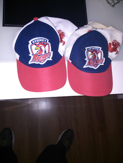 For sale 2x sydney roosters  caps for $20