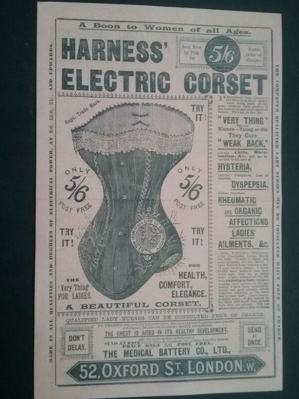 VICTORIAN ELECTRIC CORSET LEAFLET ****(SEE DESCRIPTION FOR DETAILS)****