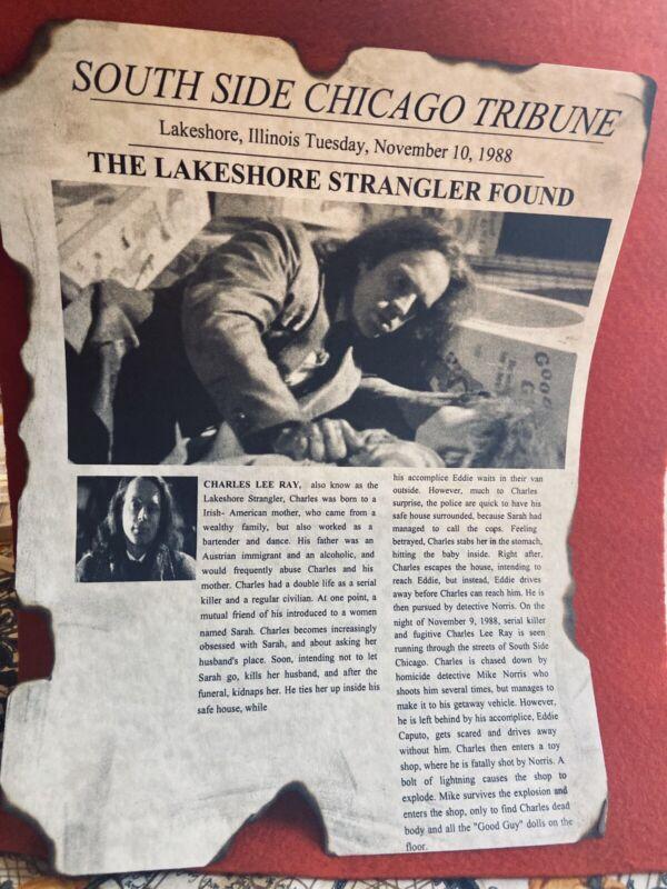Chucky Childs Play Charles Lee Ray Newsprint