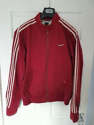Very Rare Adidas Originals Vespa Jacket Medium Burgundy/ Red - MOD - SCOOTER