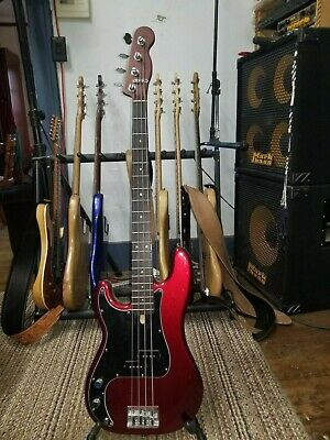 FENDER AMERICAN P BASS, LEFT HAND, PADAUK NECK WITH WENGE FRET BOARD, AWESOME