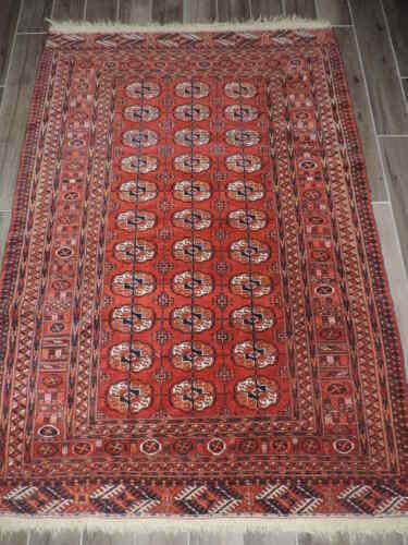 4x7ft. Antique Tekke Bokharra Wool Rug