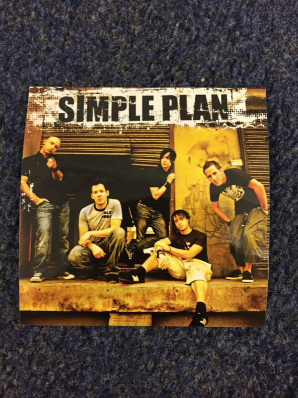 Simple Plan Still Not Getting Any Sticker Record Store Promo Item Rare Alt Rock