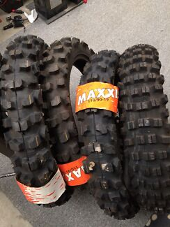 3x brand new Maxxis 110/90/19 and 1x 120/90/19 tyres