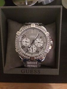 Guess silver watch (never used)