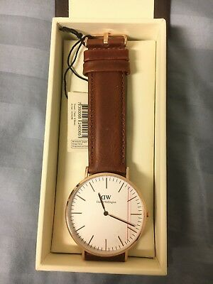 NEW Daniel Wellington (DW) Men's Rose Gold Watch (BROWN) - FAST SHIPPING