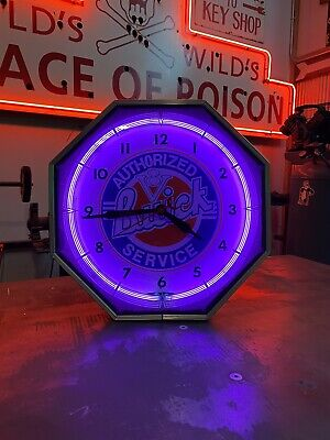 NEON PRODUCTS BUICK 8 SIDED OCTAGONAL NEON CLOCK NPI CLOCK VINTAGE