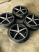 X4 17 inch rims with %95 tread on tyres 4x100 Dandenong Greater Dandenong Preview