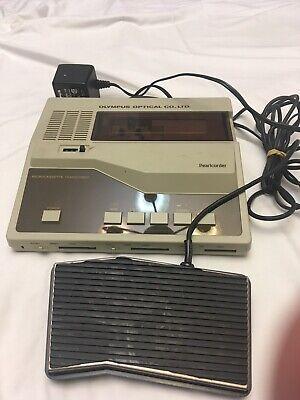 Vintage Olympus Optical Pearlcorder Microcassette Transcriber Cm100 W Footpedal