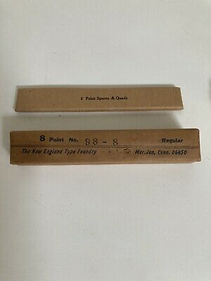 Kelsey Metal Type Letterpress Printing Bernhard Gothic 8 Point Spacers And Quad