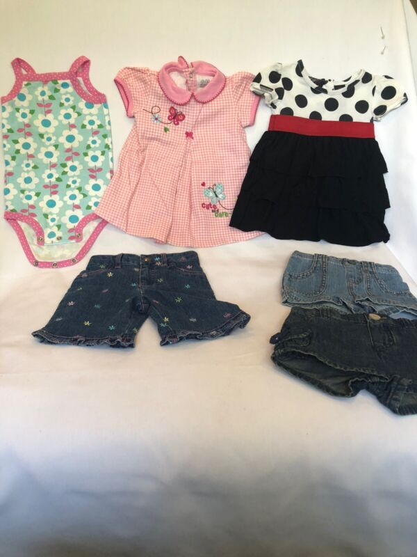 Lot Of Baby Girl 12 Months Spring/summer Clothes (6 Pieces)